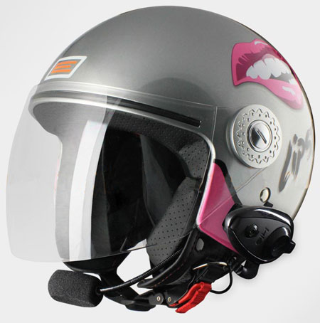 Origine Pronto Lipstick jet helmet with Bluetooth Titanium