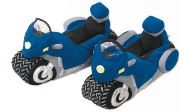 Slippers for bikers and pillion riders , col. blue-white