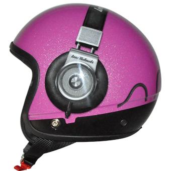 Cover Headphone rosa glitter per casco componbile Love Helmet