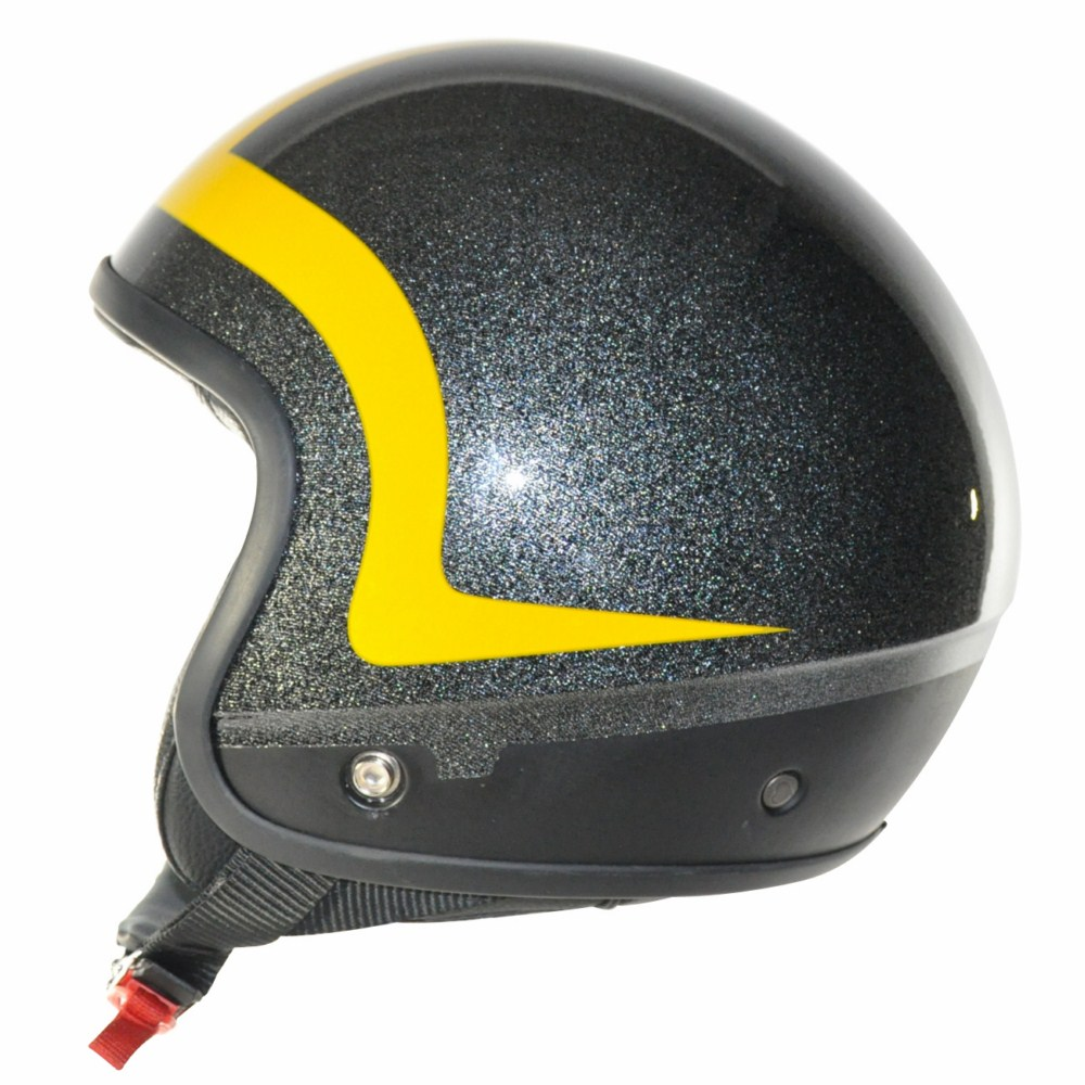 Cover Piping Glitter nero giallo casco componbile Love Helmet