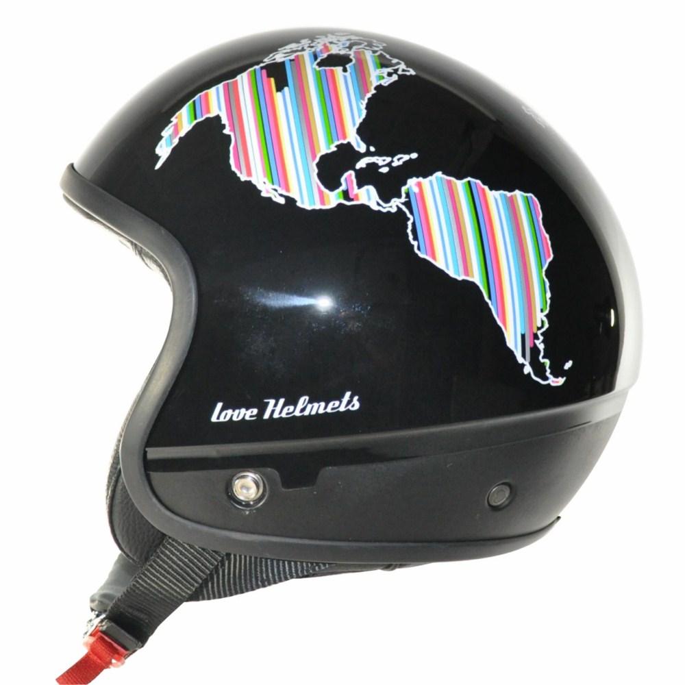 Cover Planet nero casco componbile Love Helmet