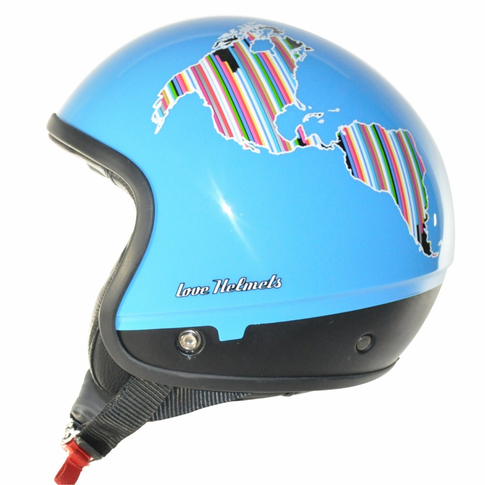 Cover Planet Turquoise casco componbile Love Helmet