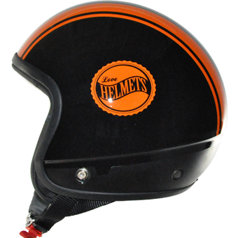 Love Helmet Cover shell Bandside black orange