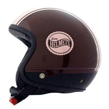 Cover Bandisde marrone rosa casco componbile Love Helmet