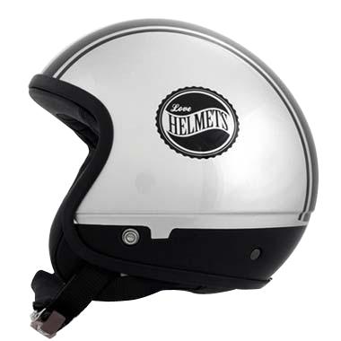 Cover Bandisde argento nero casco componbile Love Helmet