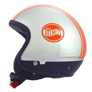 Cover Bandisde arancio silver casco componbile Love Helmet
