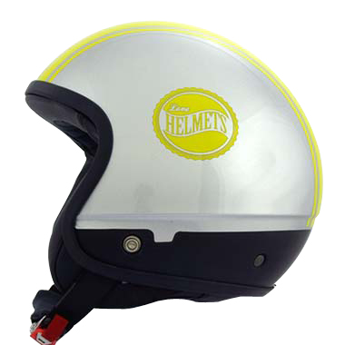 Love Helmet Cover shell Bandside silver yellow