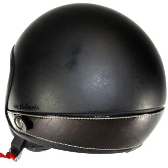 Neck Cover per casco Love Helmet imitazione coccodrillo nero