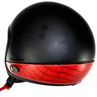 Neck Cover per casco Love Helmet rosso imitazione coccodrillo