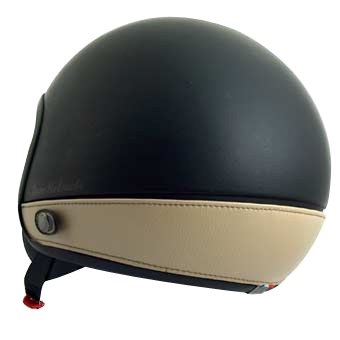 Love Helmet neck cover imitation leather taupe