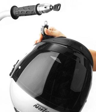 OJ Twin helmet locks for handlebars