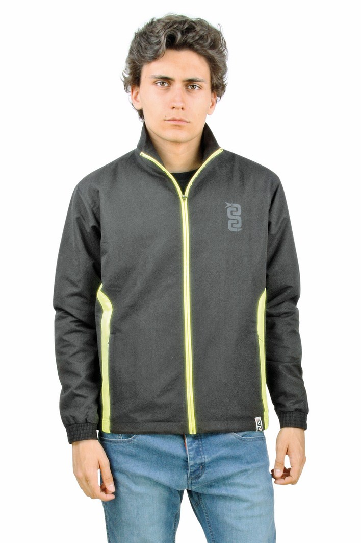 OJ Lighter wind jacket black yellow fluo