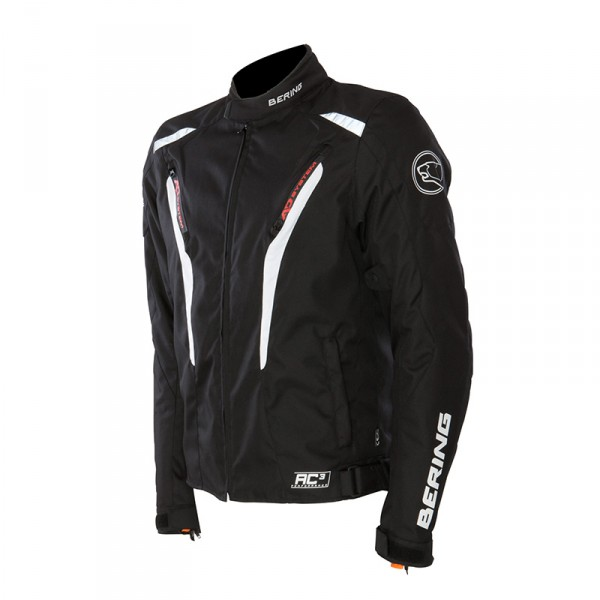 Approved waterproof motorcycle jacket Bering Max Black Orange