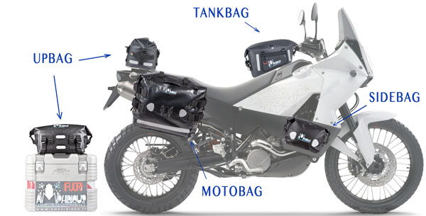 Amphibious Tank Bag Waterproof Tankbag Black