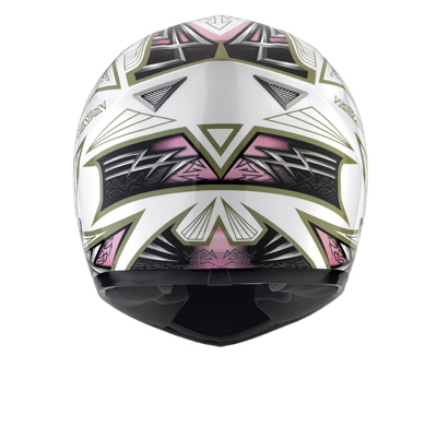 MDS by AGV Sprinter Multi Heritage FF Helmet - Col. White/Pink
