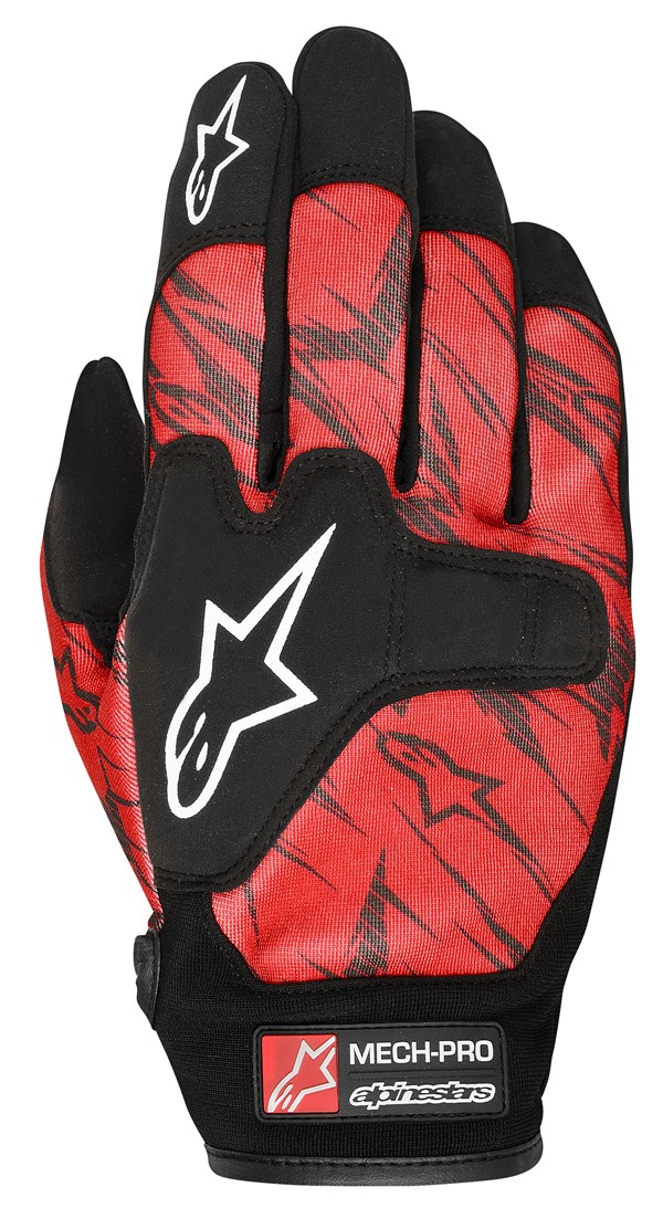 Alpinestars Mech Pro gloves red black