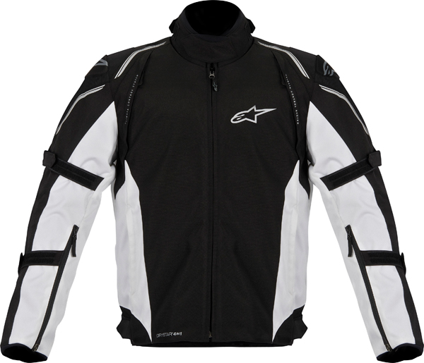 Alpinestars MegatonDS motorcycle jacket black white