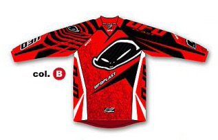 Ufo Plast Mx-22 kid jersey red