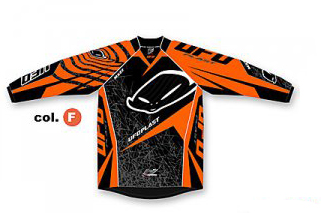 Ufo Plast Mx-22 kid jersey orange