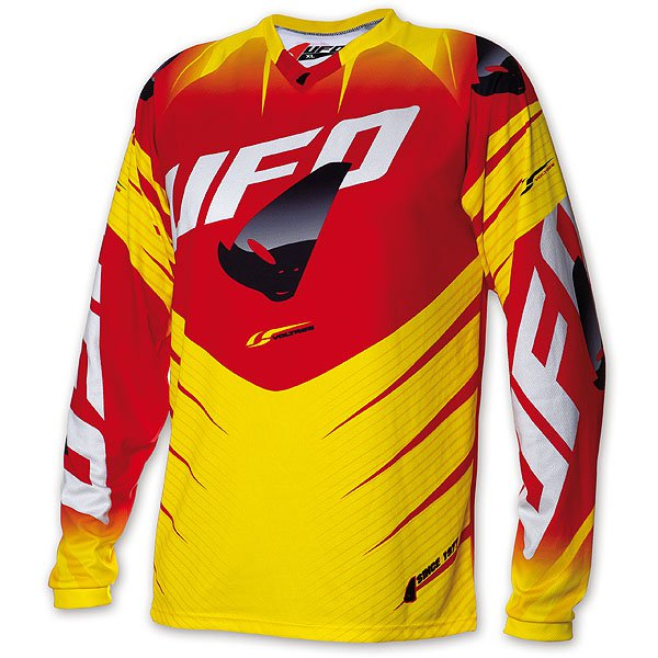 Ufo Plast Voltage cross jersey Yellow Red
