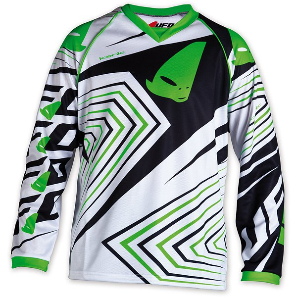 Ufo Plast Iconic kid cross jersey Green White Black