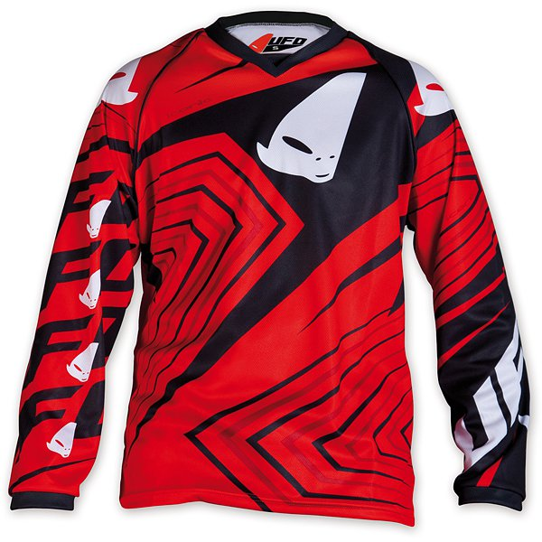 Ufo Plast Iconic kid cross jersey Red Black
