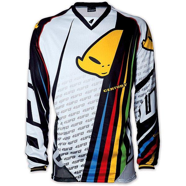 Ufo Plast Century cross jersey White Black Multicolor