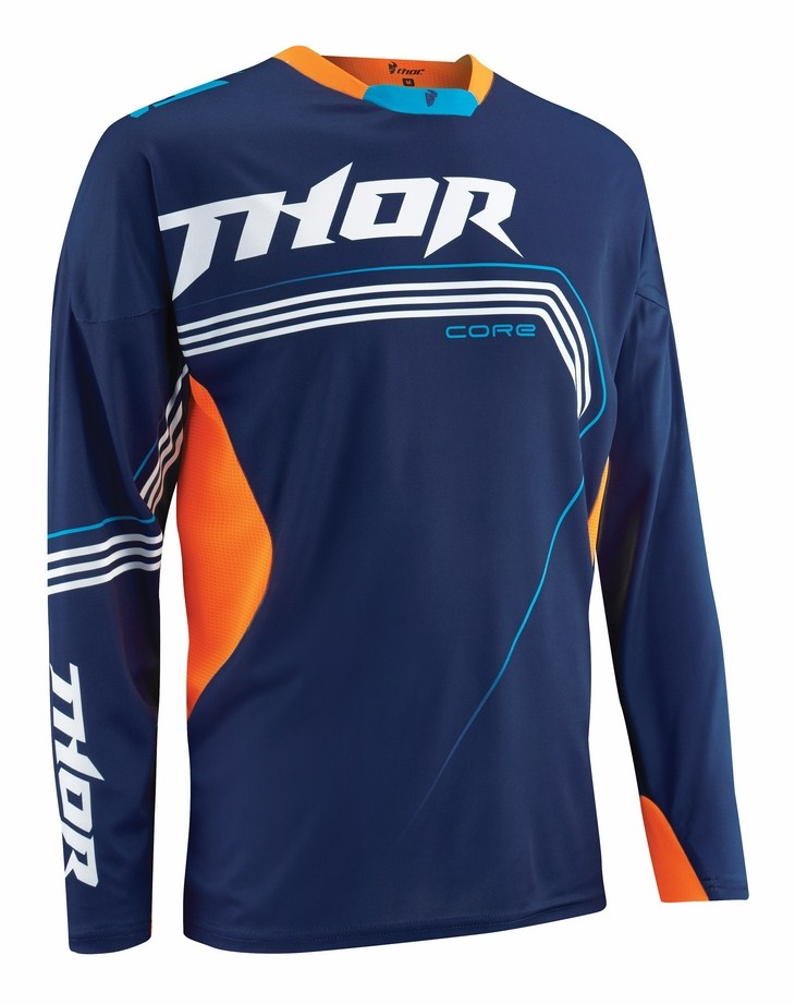 Thor Core Bend jersey blue orange fluo