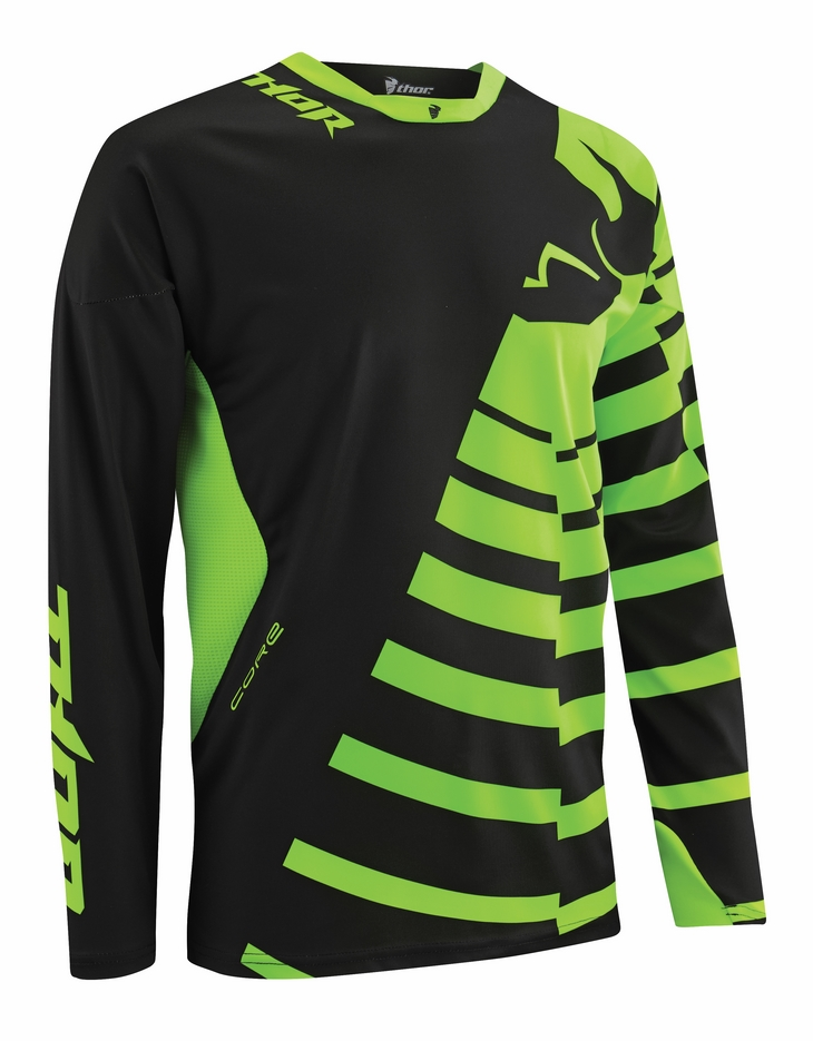 Thor Core Orbit jersey nlack green fluo