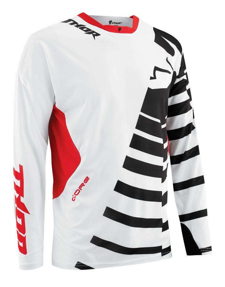 Thor Core Orbit jersey black red