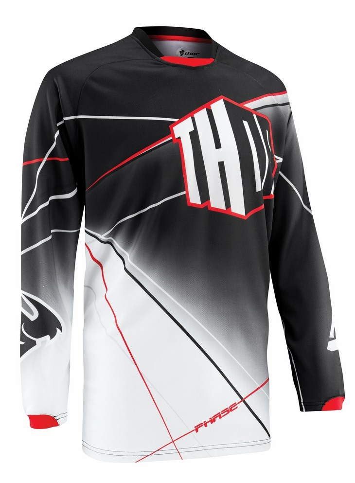 Maglia cross Thor Phase Prism nera