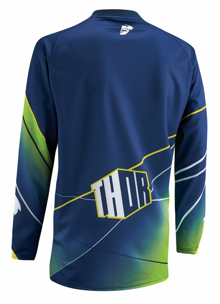 Maglia cross Thor Phase Prism blu