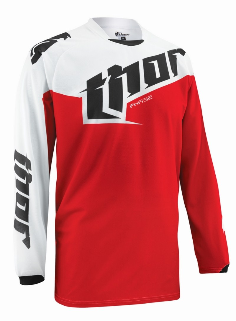 Thor Youth Phase Tilt jersey red