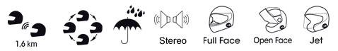 Interfono universale Bluetooth Midland BT Next per due caschi