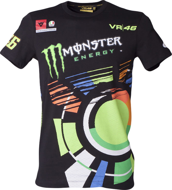 T-SHIRT Monster VR46 nero