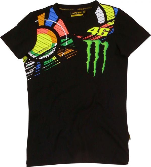VR46 Monster woman T-shirt black