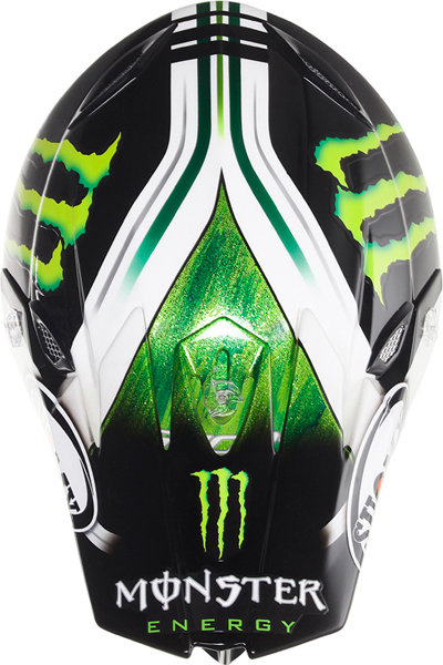 Casco moto cross Suomy MR Jump Monster Energy opaco