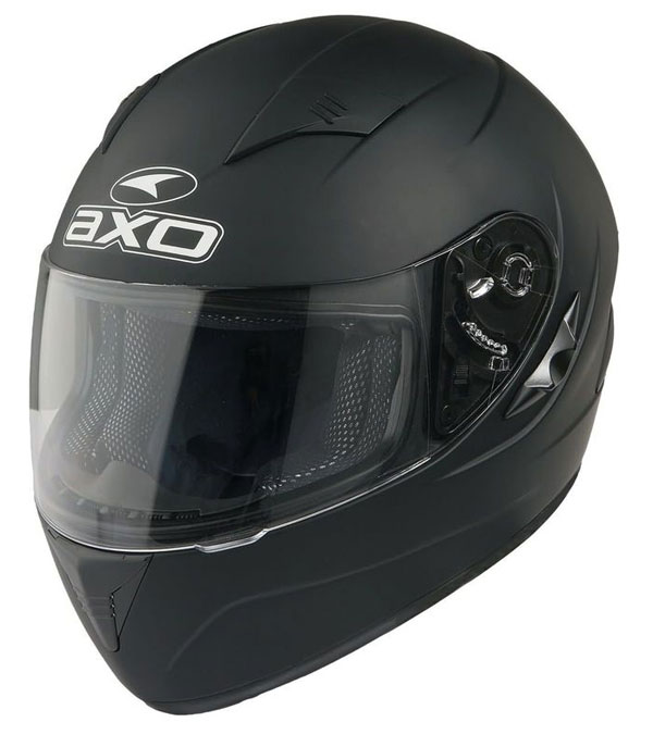 Full face helmet with goggles sun AXO Goblin Matte Black