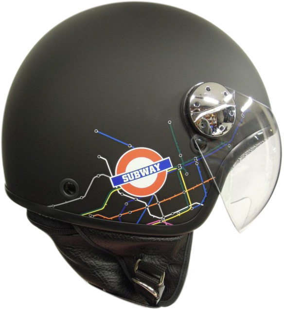 jet helmet AXO Subway Black White