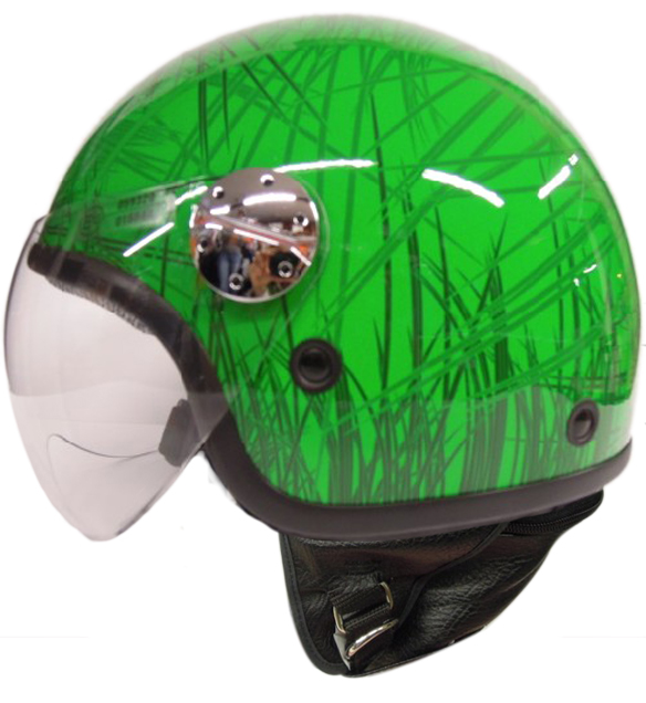Casco jet AXO Subway Verde