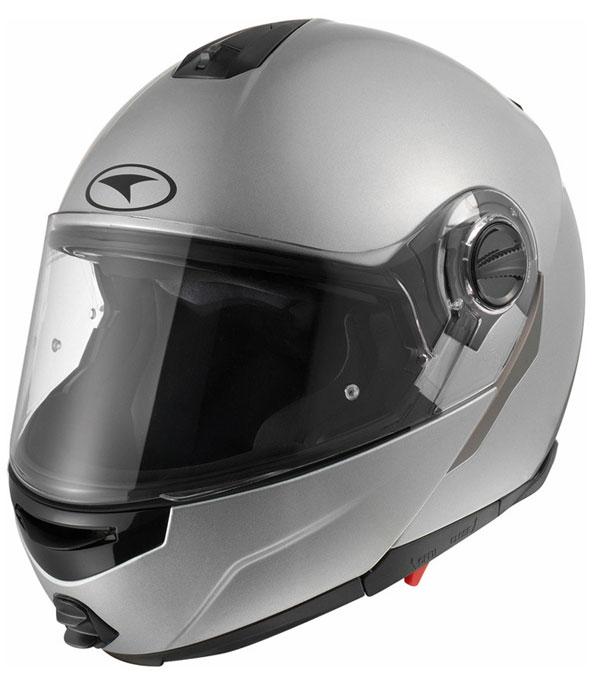Modular helmet with goggles sun AXO Modus Silver