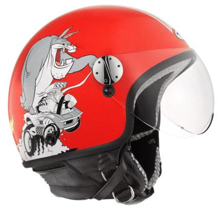 Jet Helmet AXO Subway Warner Duffy Duck Red