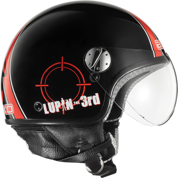 Jet Helmet AXO Subway Lupin III Jigen Black Red