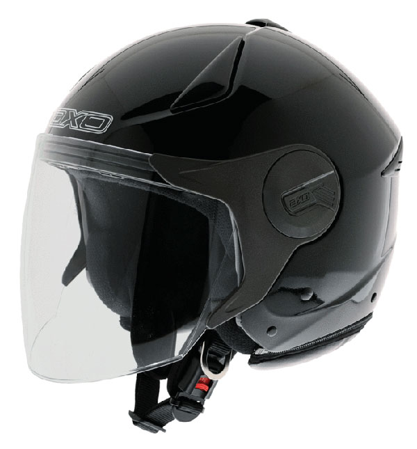 Caco jet with visor eyeglass AXO Black Polis