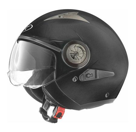 Jet helmet with visor eyeglass AXO Lord Black