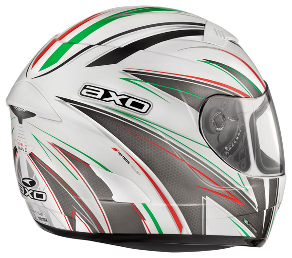 Full face helmet with goggles sun AXO Goblin Wave Italian