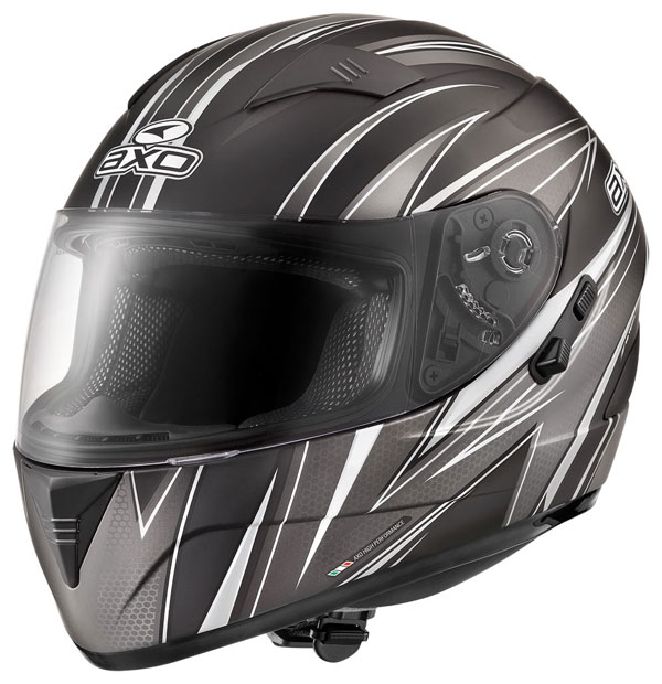 Full face helmet with goggles sun AXO Goblin Black Wave