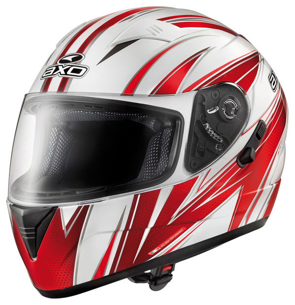 Full face helmet with goggles sun AXO Goblin Red Wave