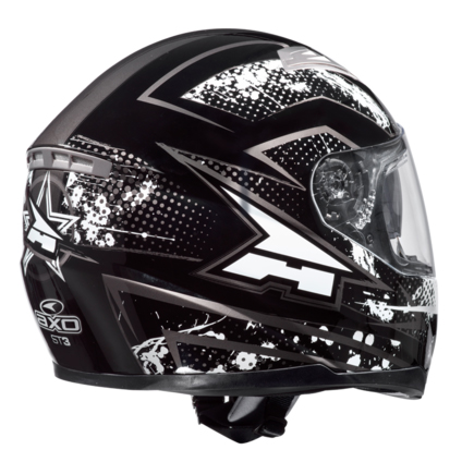 AXO ST3 full face helmet Black White