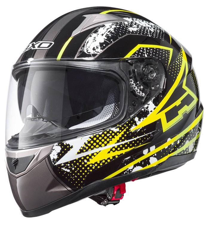 AXO ST3 full face helmet Black Yellow
